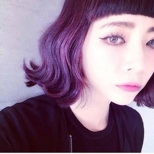 2015年秋冬・髪色はこれに決まりっ!紫カラーがいい感じ!のサムネイル画像