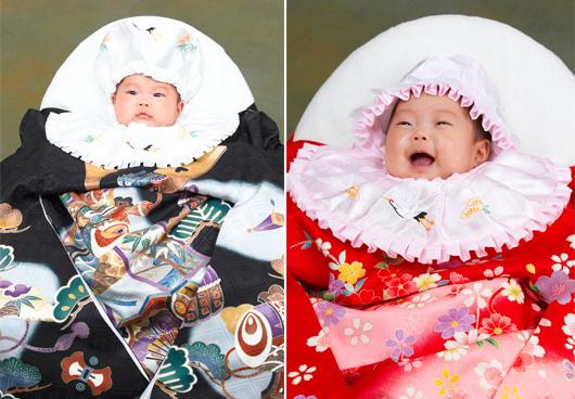 お宮参りの時、赤ちゃんに着せる産着。産着ってどんな物なの?のサムネイル画像