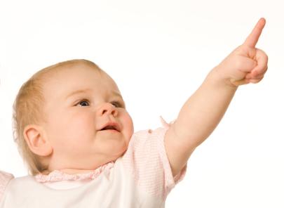 可愛い赤ちゃんの「指さし」はコミュニケーションのはじまり?!のサムネイル画像