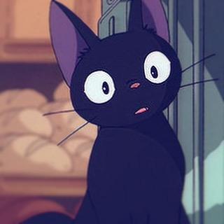 【画像】みんなが大好きな黒猫といえば!魔女の宅急便のジジ☆のサムネイル画像