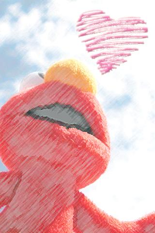 セサミストリートエルモのイラストとぬりえイラスト集めました!のサムネイル画像
