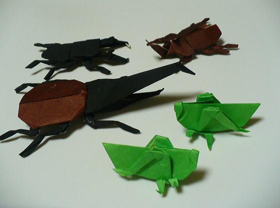 折り紙で遊びましょうよ!子供に人気の 折り紙で色んな虫を作ろう!のサムネイル画像